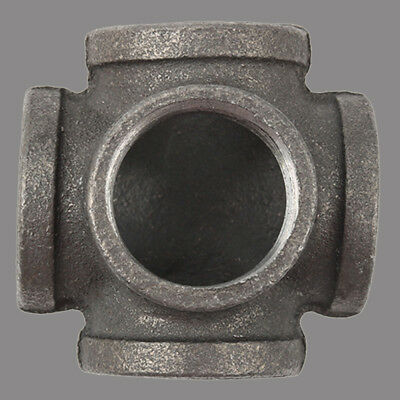 1 Inch 5-Way Malleable Iron Tee Pipe fitting Side Outlet Elbow NPT Female