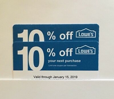 2 Lowe's Blue Card 10% Off For Home Depot + Other Comp Not Lowe's  Exp. 06/15/19