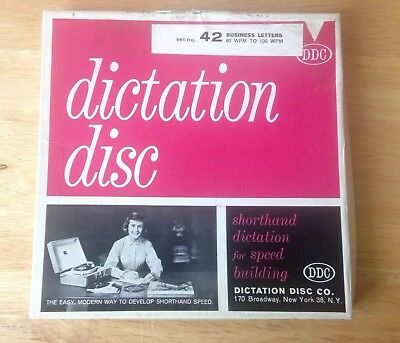 Dictation disc DDC 450 Shorthand Speed Development Set 45 RPM Record Set of 2
