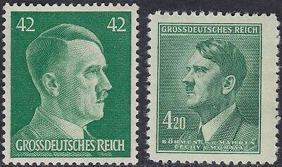 Stamp Selection Germany WWII 3rd Reich Hitler  Bohemia War 42pf 420 MNH