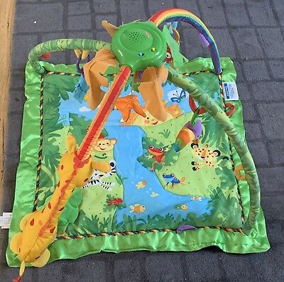 Fisher Price FISHER-PRICE RAINFOREST MELODIES & LIGHTS DELUXE GYM Toy - BN