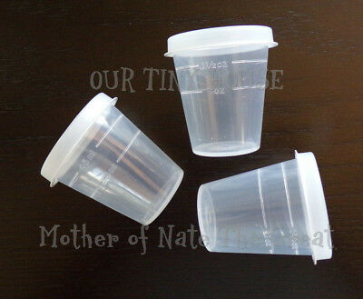 NEW Tupperware Midgets 3 Clear Containers Sheer 2 oz. Little Tupper Minis 4789