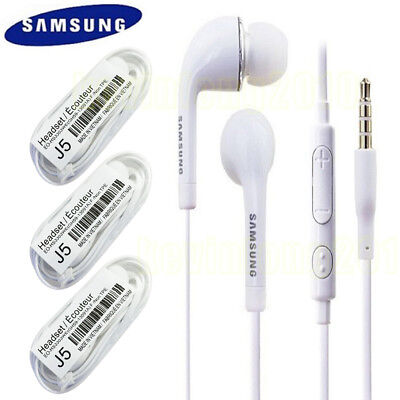 3X OEM Original Samsung Galaxy S4 J3 J5 J7 Note 5 Hands-Free Headset Earphone