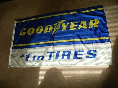 Vintage Goodyear  #1 In Tires  Flag Banner Sign  **nice**