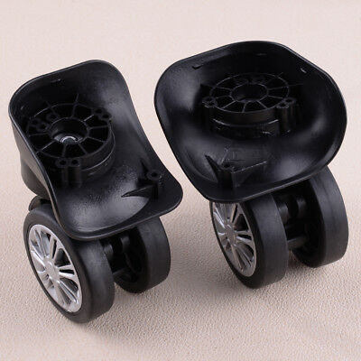 2Pcs Replacement Luggage Wheels 360° Swivel Spare Caster Suitcase Repairment
