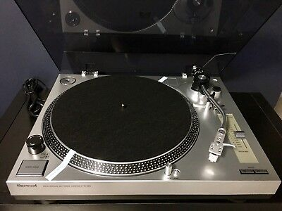 Sherwood Pm9805 - Manual Turntable Record Player - Excellent Like New Condition.
