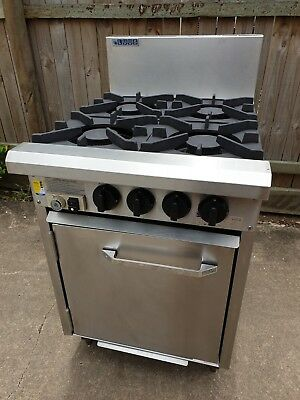 Commercial 4 Burner Stove Range with Oven LPG LUUS RS-B4