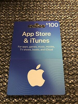 $100 value Apple App Store/iTunes Gift Card (purchased on Amazon)