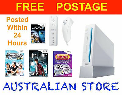 Genuine Nintendo Wii Console Bundle Wii Sports Play Video Home Game PAL System