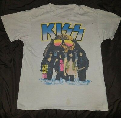 Vintage 1990 Kiss Hot In The Shade Tour Shirt Xl/large Eric Carr Gene Simmons