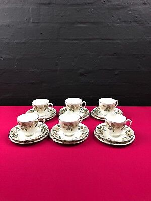 6 x Wedgwood Beaconsfield Tea Trios Cups Saucers Side Plate