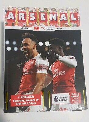 Arsenal v Chelsea. Premier League Official Matchday Programme 2018/2019