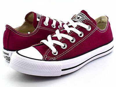 29d11a4cc879 Converse Chuck Taylor All Star Low Tops Maroon OX Womens Sneakers Shoes  M9691