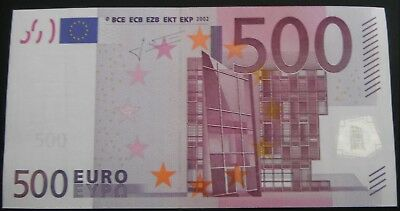 Mint €500 . Issued by Spain. Guaranteed Genuine.