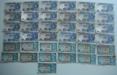 37 Malaysian  1 Ringgit Older Issue Notes