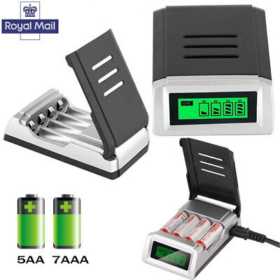 LCD Display Intelligent Fast Battery Charger for 2A 3A Batteries Rechargeable