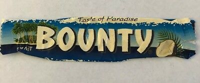 Old Bounty Chocolate Bar Lolly Wrapper Australian Confectionary1998