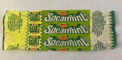 Old Allens Spearmint Giant Size Lolly Wrapper Australian Confectionary