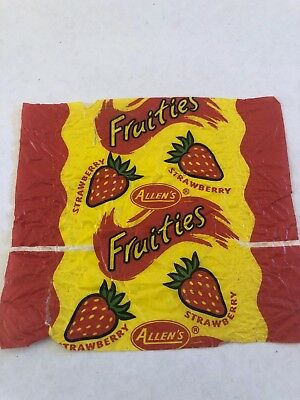 Vintage Allen's Fruities Strawberry Lollie Lolly Wrapper Confectionary Deli Item