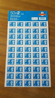 50 X Large 2nd Class Stamps - Self Adhesive - Brand New and unused