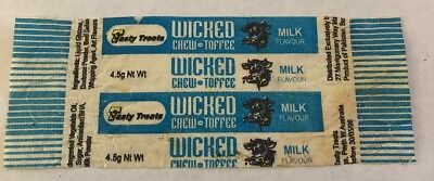 Wicked Chew Toffee Wrapper  Milk Perth Confectionary Lolly Lollies Deli Item