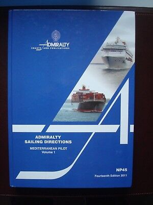 Admiralty Sailing Directions MEDITERRANEAN VOL1 Pilot NP27 14 eme édition 2011
