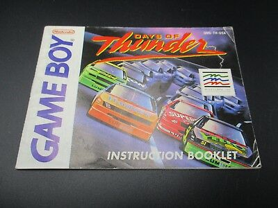Days Of Thunder Game Boy Spielanleitung Anleitung Manual Booklet
