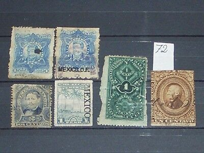 early Mexico revenue stamps mint & used