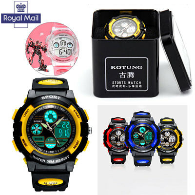 Kids Sport Yellow Watch Outdoor LED Digital for Boys Girls Teenagers Gift