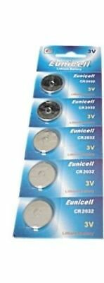 5 x EUNICELL CR2032 3V LITHIUM CELL BATTERY 5004LC 2032 BR2032 BUTTON BATTERIES