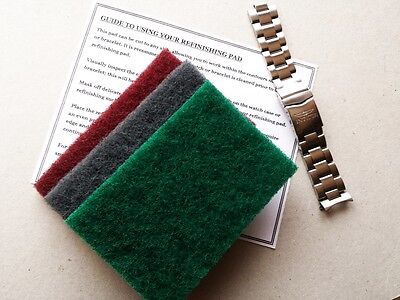 Best!!! 3 X Very Large Refinishing Pads Watch Scratch Removal Restoration