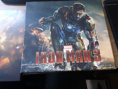 Marvel The Art of Iron Man 3 Movie Book with Slipcase Signed by 7 Artists Doodle