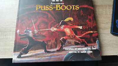 The Art of Puss in Boots autographed Signed Artbook Guillermo Del Toro