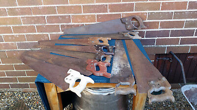 Lot of 9 vintage hand saws