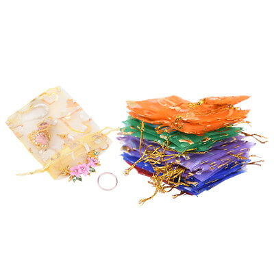 100PCS Organza Jewelry Candy Gift Pouch Bags Wedding Party Xmas Favors Decor  SL