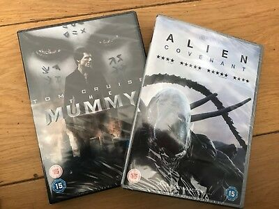 The Mummy and Alien Covenant DVD - brand new in wrap