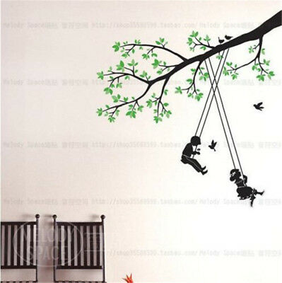 Swing Children Home Room Decor Removable Wall Stickers Decal Decorations