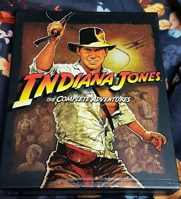 INDIANA JONES 1 - 4 THE COMPLETE COLLECTION / 5x BLU RAY wie Neu * IN TOLLER BOX
