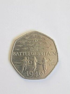The BATTLE OF BRITAIN 50p coin 2015 (circulated)