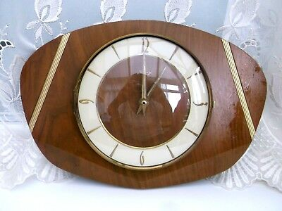 "Vintage/retro    German Kienzle Wooden  Clock ""not Working"""