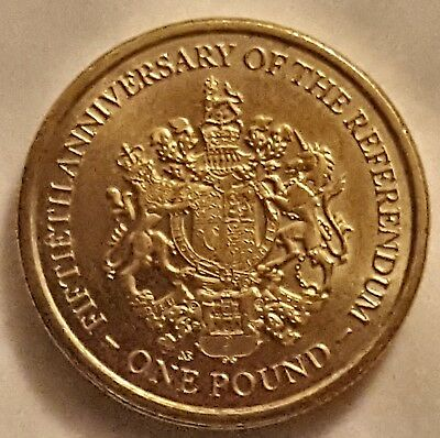 2017 Gibraltar £1 Coin 50th Anniversary Of The Referendum circulated One Pound