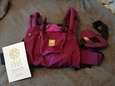 Lillebaby Complete 6 in 1 Baby Carrier in purple,  excellent condition