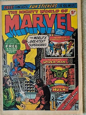 The Mighty World of Marvel no 3 week ending oct 21 1972