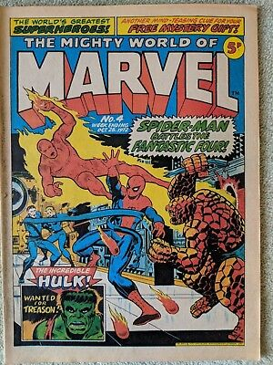 The Mighty World of Marvel no 4 week ending oct 28 1972