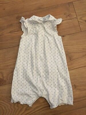 Little White Company Romper Suit Baby Girls 12-18m