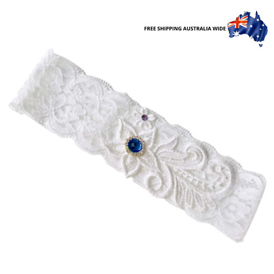 Lace Garter 1 with Diamantes and Floral Lace - Bridal wedding toss Australia