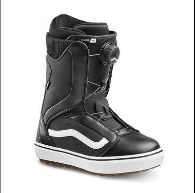 Vans Women's Encore Snowboard Boots in Black/White - Size 8.5 or 11  NWT 2018