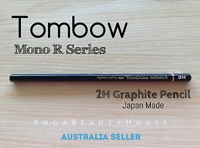 Tombow Mono R Series 1pc Graphite Pencil 2H Firm/Hard (art calligraphy draw pen)