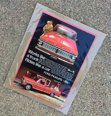1970 Ford F-Series Truck: WAITING ON YOU BUB EDITION!!! Vintage Print Ad ~8x10