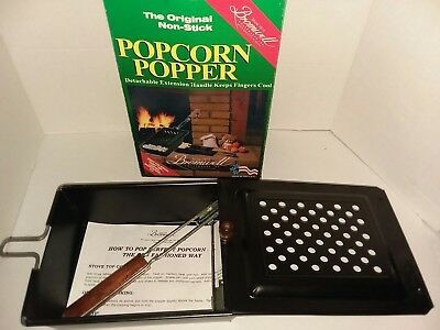 Popcorn Popper Bromwell NEW Vintage Never Used Camping R.V. Fireplace